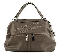 Вместительная женская стильная сумка саквояж art. 89972 кофе