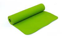 Коврик для фитнеса и йоги оливковый FI-4937