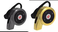 Наушники беспроводные с ушным крючком AT-BT21 (черные, золото)