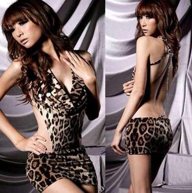 Секси-платье леопардовое