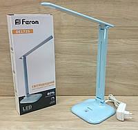 Настільний світлодіодний світильник Feron DE1725 9W LED (блакитний), фото 1