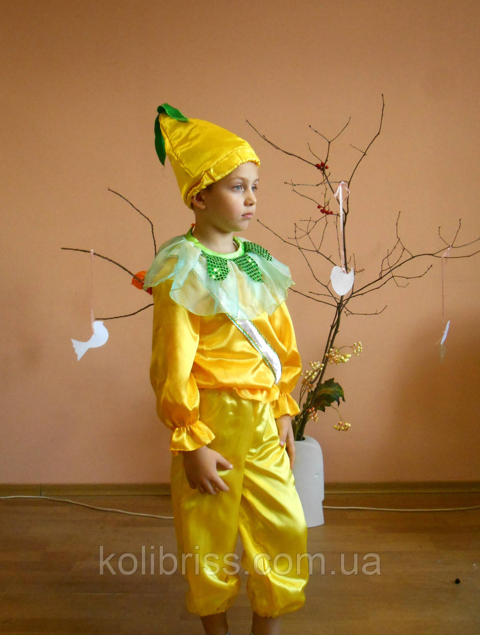 Костюм сеньор лимон, лимончик мальчик, костюм лимона прокат киев