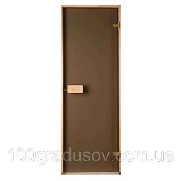 Двери для бани Saunax classic (матовая бронза 70х200)