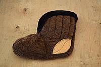 Бурки короткие меховые коричневые