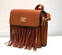 Классная модная женская сумка клатч VTTV коричневая