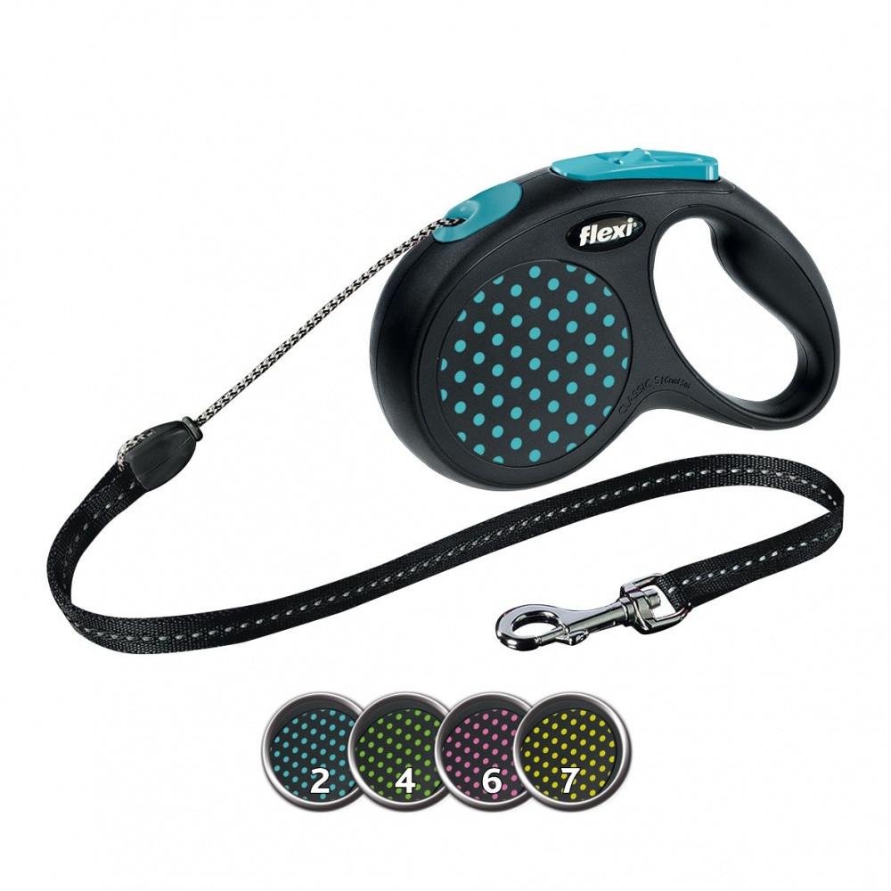 FLEXI (Флекси) DESIGN S 5м/12кг, трос - поводок-рулетка для собак (цвет в ассортименте)