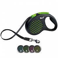 FLEXI (Флекси) DESING S 5м/15кг, лента - поводок-рулетка для собак (цвет в ассортименте)