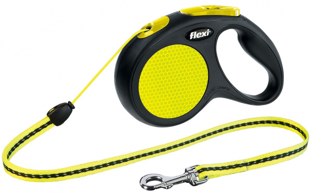 FLEXI (Флекси) NEON S 5м/12кг, трос - поводок-рулетка для собак
