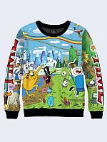 Женский  Свитшот Adventure Time 44, микродайвинг