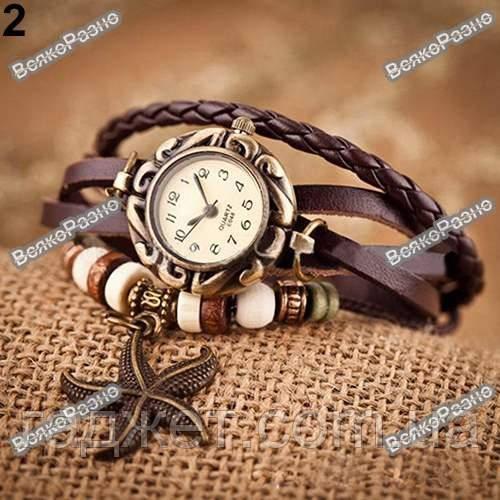 Женские наручные часы браслет коричневого цвета