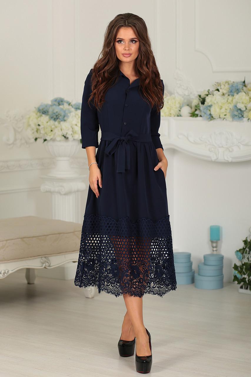 Нарядное Платье Джулия в темно-синем цвете