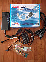 Адаптер Кабель USB \ IDE SATA + адаптор USB 2.0 переходник адаптер для жесткого диска SATA IDE 2,5 3,5