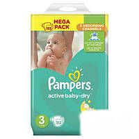 ПОДГУЗНИКИ PAMPERS ACTIVE BABY-DRY, РАЗМЕР 3 (5-9КГ) 152ШТ (ПАМПЕРС АКТИВ БЕЙБИ)