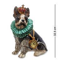"Декоративная статуэтка с часами ""Собака Элизабет"" NS-175. Символ 2018"