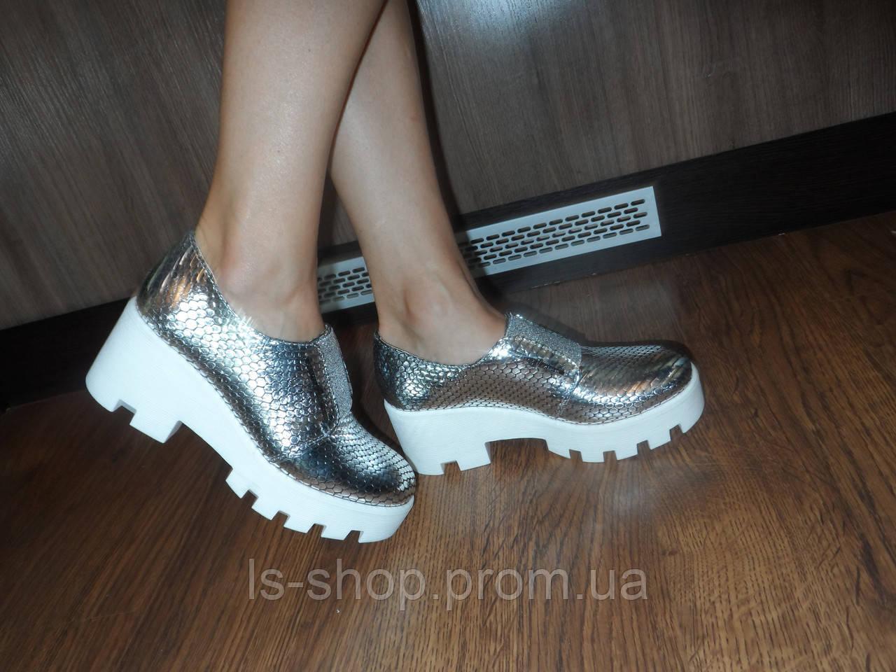 9976c76fa Маломерки, фото 2 Женские кожаные серебристые туфли, а.т33серебро.  Маломерки, фото 3 ...