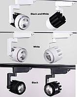 Светильник светодиодный трековый на шинопровод OLT-003 белый и черный 20W LED COB 3000K  , фото 3