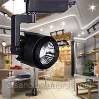 Светильник светодиодный трековый на шинопровод OLT-003 черный 15W LED COB 3000K  , фото 3