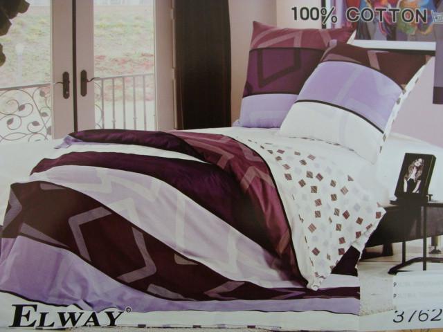 Сатиновое постельное белье полуторное ELWAY 3762
