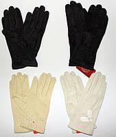 Стильные, удобные, чёрные женские перчатки из кашемира