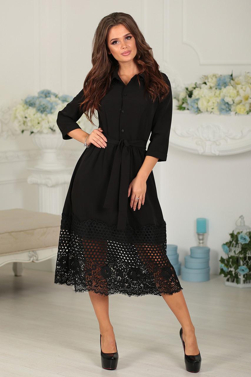 Нарядное Платье Джулия в черном цвете