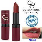 Губна помада Golden Rose Velvet Matte №22, фото 2