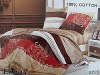 Сатиновое постельное белье полуторка ELWAY 3773