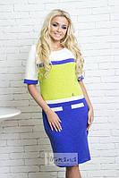 Женское платье с коротким рукавом КАРАМЕЛЬКА  ТМ Irmana 44-48 размеры