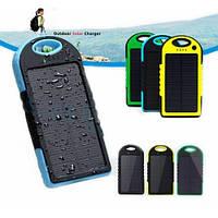 Универсальная мобильная батарея 30000 mAh, Power Bank, солнечная панель (5V/200mA), 2xUSB, 5V/1A/1