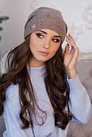 Зимняя женская шапка-колпак «Луис» Темный кофе