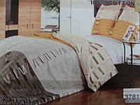 Сатиновое постельное белье полуторка ELWAY 3781