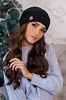 Зимняя женская шапка-колпак «Луис» Черный