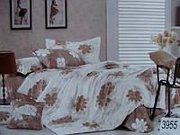 Сатиновое постельное белье полуторка ELWAY 3955