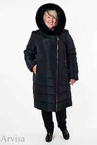 Зимнее женское пальто куртка удлиненное