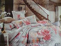 Сатиновое постельное белье полуторка ELWAY 4061