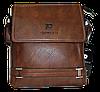 Мужская сумка через плечо из искусственной кожи коричневого цвета CМ-65 (Б)