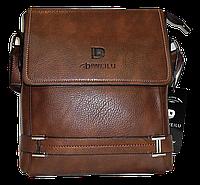 Мужская сумка через плечо из искусственной кожи коричневого цвета CМ-65 (Б), фото 1