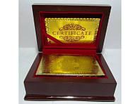 Позолоченная колода игральных карт I5-22 Dollars, пластиковая колода карт