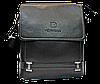 Мужская сумка через плечо из искусственной кожи черного цвета CМ-67 (Б)