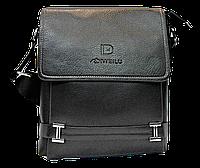 Мужская сумка через плечо из искусственной кожи черного цвета CМ-67 (Б), фото 1