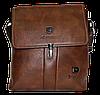 Мужская сумка через плечо из искусственной кожи коричневого цвета CМ-68 (Б)