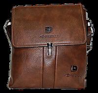 Мужская сумка через плечо из искусственной кожи коричневого цвета CМ-68 (Б), фото 1