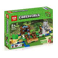 "Конструктор Minecraft Lepin 18030 ""Хижина на острове"", 664 деталей"