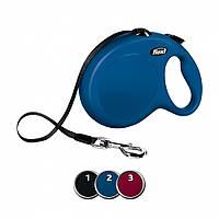 FLEXI (Флекси) NEW CLASSIC M-L 5м/50кг, лента - поводок-рулетка для собак (3 цвета)