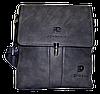 Мужская сумка через плечо из искусственной кожи серого цвета CМ-69 (Б)