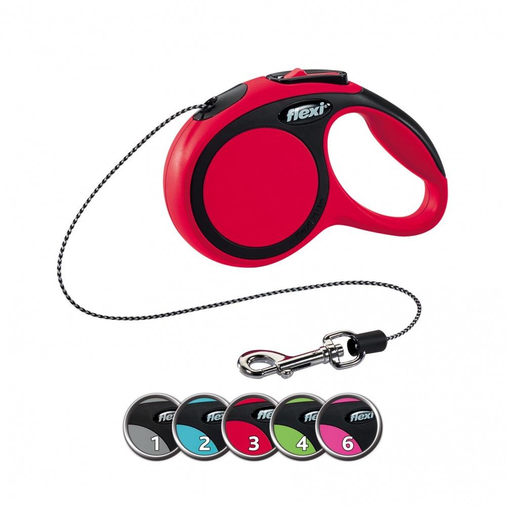 FLEXI (Флекси) NEW COMFORT S 8м/12кг, трос - поводок-рулетка для собак (4 цвета)
