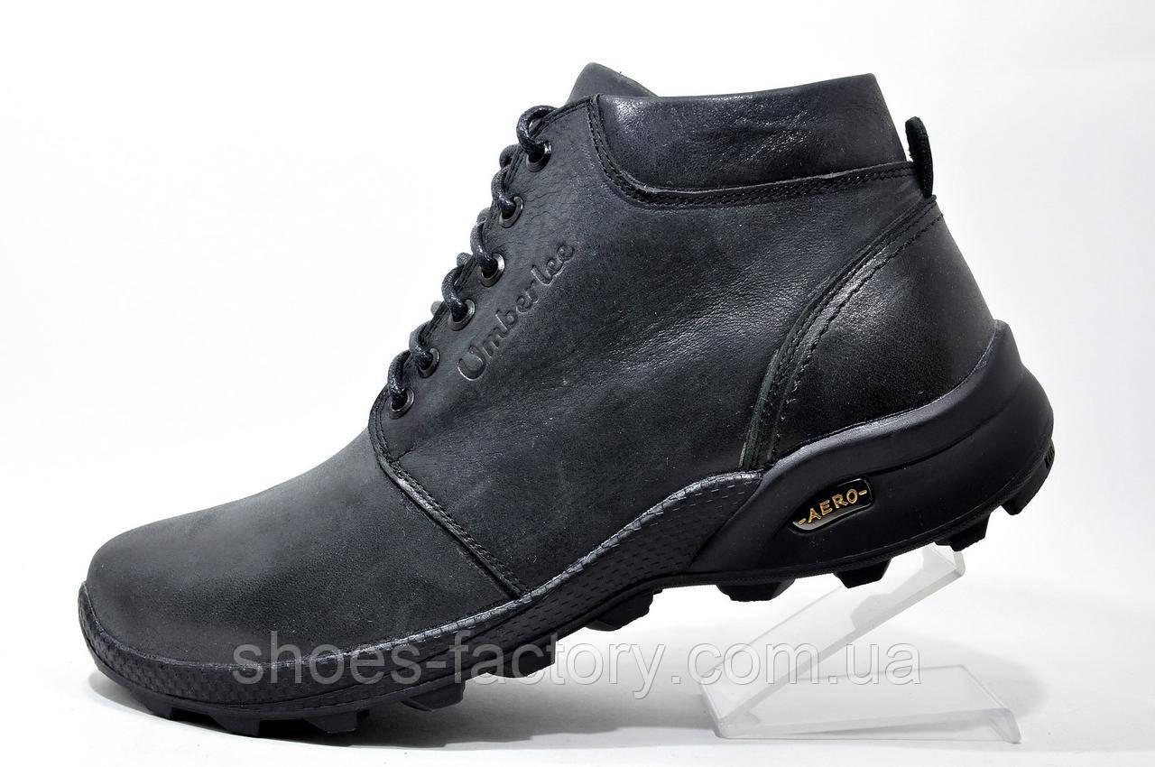 Кожаные мужские ботинки Ботус, зимние (Black)