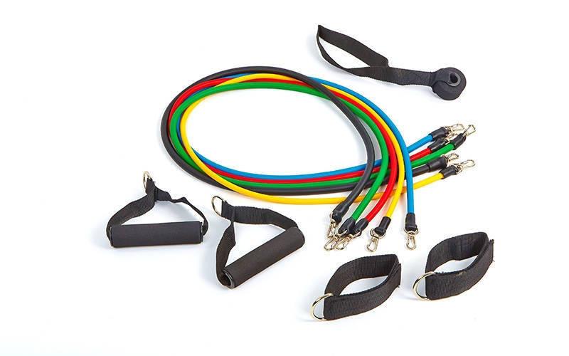 Набор эспандеров с петлями Pro Supra Power Bands 5 жгутов FI-5955 - Интернет магазин SportOK в Одессе