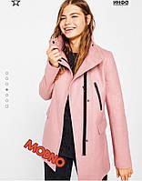 Ультрамодное женское осеннее пальто-косуха (качественный кашемир, воротник стойка, молнии) РАЗНЫЕ ЦВЕТА