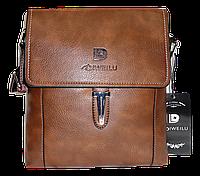 Мужская сумка через плечо из искусственной кожи коричневого цвета CМ-71 (Б), фото 1