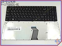Клавиатура для ноутбука LENOVO IdeaPad Z560, Z565, G570, G575 ( RU Black,  Черная рамка ). Оригинальная клавиатура. Русская раскладка.